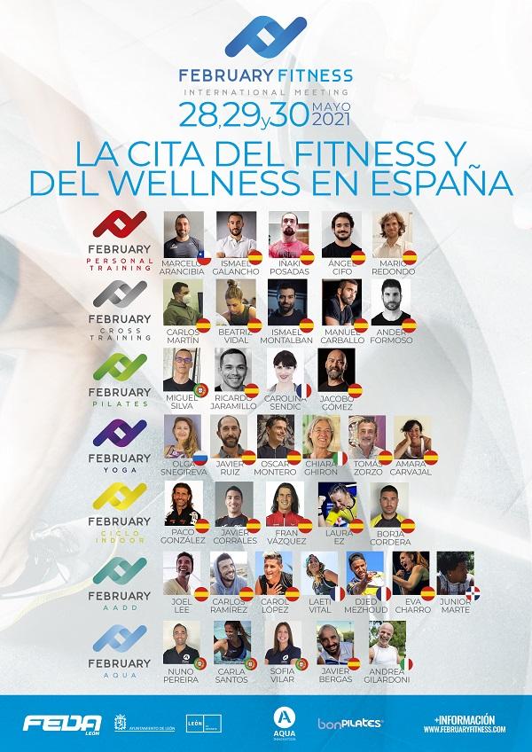 February Fitness Cartel 2021 - XV Edición de February Fitness