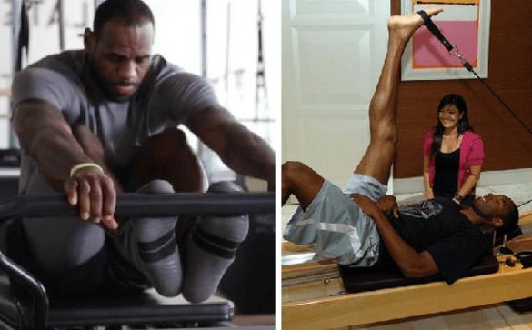14 Lebron James y Kobe Bryant Pilates